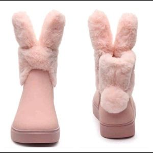 Women's pink bunny boots